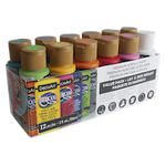 Americana Value Pack Pack of 12 (2oz. each) assorted Colors acrylic paints for bisque or plastercraft