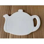 "Ceramic bisque unpainted tea pot shaped coaster 5.5"" W x 4.5""H"