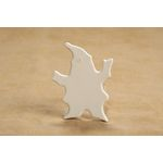 "Ceramic bisque unpainted St. Nick ornament flat & smooth on both sides c40637  3-3/4"" CASE OF 25"