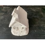 "House plastercraft noire use acrylics Large School house 6"" x 6 1/4"" x 4 1/2"""