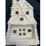 "House plastercraft  no fire halloween LARGE haunted mansion 11 1/2""high 8""wide 7""deep"