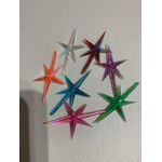 """Star medium for top of tree MEDIUM YOU PICK THE COLORS 4 pack 1-3/4""""W 1/8"""" stem FREE SHIPPING ON THIS PRODUCT"""