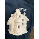 "House plastercraft no fire use acrylic paints Elves house 6 1/2"" w x 7"" h x 5"" d"